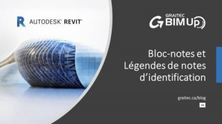 Bloc-notes et Légendes de notes d'identification dans Autodesk Revit